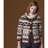 Tahki Yarns Cedarwood Fair Isle Jacket PDF
