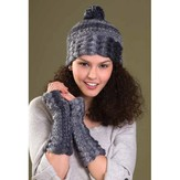 Tahki Yarns Bliss Hat & Fingerless Gloves PDF