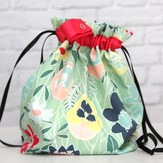 Erin.Lane Twofer Drawstring Bag with Interior Divider