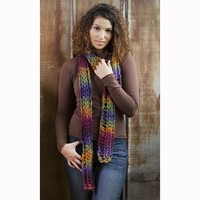 One Skein Puzzle Scarf (Free)