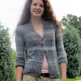 Universal Yarn Sparkle in the Storm Cardigan (Free)