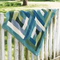 161 Valley Log Cabin Blanket
