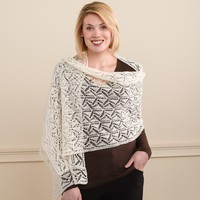 202 Geometric Lace Shawl And Scarf