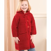 Valley Yarns 206 Red Hooded Child's Jacket (Free)