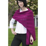 Valley Yarns 215 Diagonal Mesh Scarf And Shawl (Free)