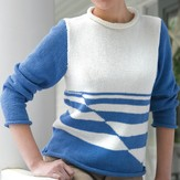 Valley Yarns 229 Striped Woman's Pullover (Free)