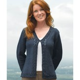 Valley Yarns 235 Bluebell V-Neck Cardigan (Free)