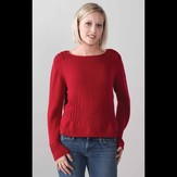 Valley Yarns 251 Cranberry Boat Neck Pullover