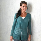Valley Yarns 259 Hanging Garden Layered Cardigan