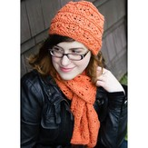Valley Yarns 275 Feather and Garter Hat and Scarf