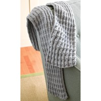 286 Shale Pleated Scarf (Free)