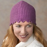 Valley Yarns 292 Lavender Ribbed Hat (Free)