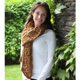 Valley Yarns 382 Lobed Leaf Scarf