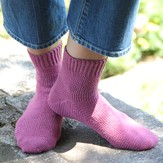 Valley Yarns 425 Cosmos Toe-Up Crocheted Socks