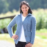 Valley Yarns 484 Braid Cardigan