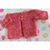 Valley Yarns 568 Dianthus Baby Cardigan