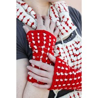 592 Nordic Tiles Scarf & Fingerless Mitts
