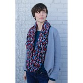 Valley Yarns 594 Finger Crochet Cowl/Scarf (Free)