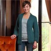 Valley Yarns 606 Flowing Rib Cardigan