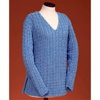 126 Sailor's Rib V-neck Pullover