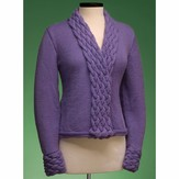 Vermont Fiber Designs 163 Cable Collar Cardigan PDF