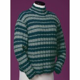 Vermont Fiber Designs 114 Striped Reverse Rib Mock Turtleneck PDF