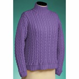 Vermont Fiber Designs 119 Cable and Rib Turtleneck PDF