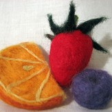 Needle Felting Flowers and Fruit