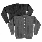 Yankee Knitter Designs 25 Adult's Cable Sweater Pullover or Cardigan