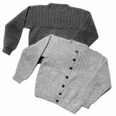 Yankee Knitter Designs 8 Mock Cable Pullover & Cardigan